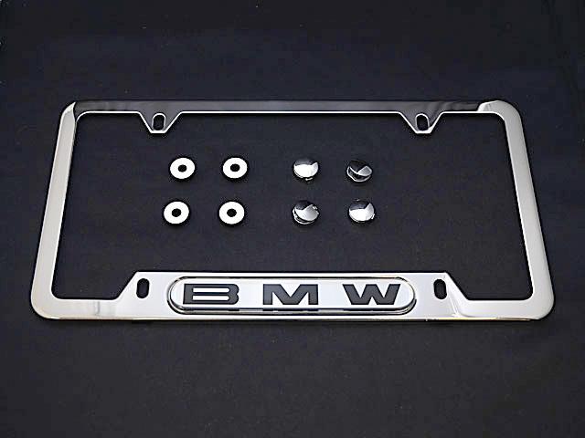 bmw license plate frame polished steel oem e30 e32 e34 e36 e38 e39 e46. Cars Review. Best American Auto & Cars Review