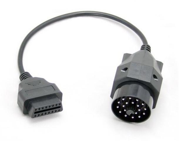bmw 20 pin diagnostic plug to 16 pin obd adapter obdii. Black Bedroom Furniture Sets. Home Design Ideas