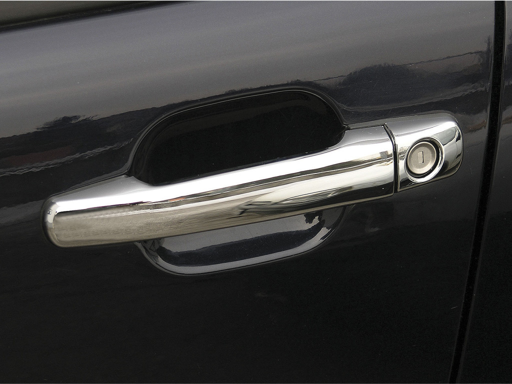 Mercedes w202 w210 chrome door handle cover set german for Door handle in german