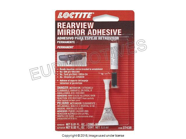 loctite rearview mirror adhesive glue kit interior rear view mounting adesive ebay. Black Bedroom Furniture Sets. Home Design Ideas