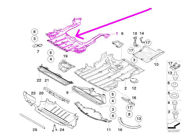 bmw e90 e92  u0026 39 xi u0026 39  undercar shield front center oem engine
